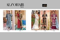 ALZOHAIB Vol 2 Pure Cotton Lawn Embroiderd Kameez