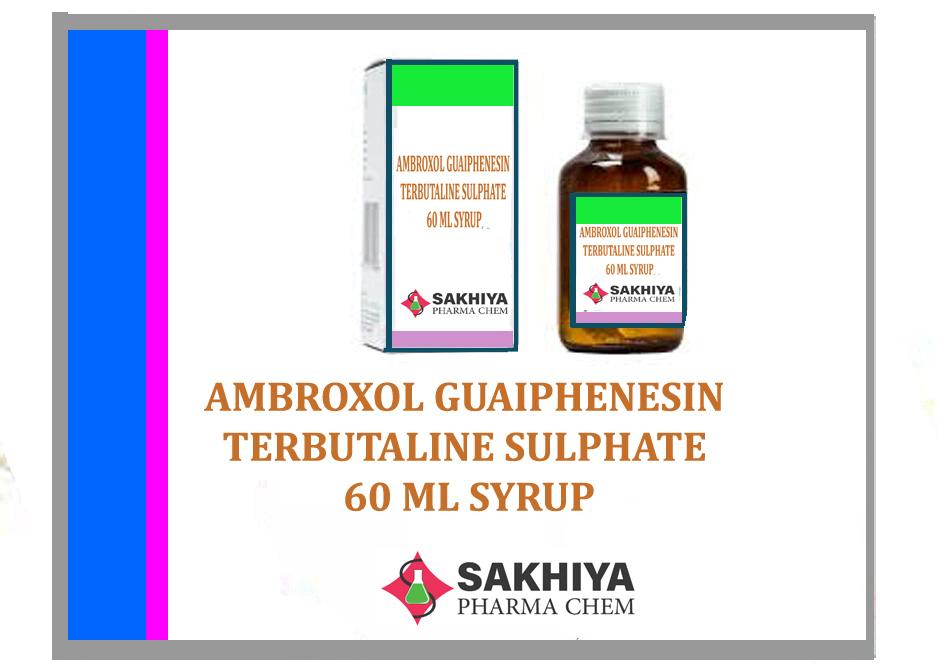 Ambroxol Guaifenesin Terbutaline Sulphate 60ml Syrup