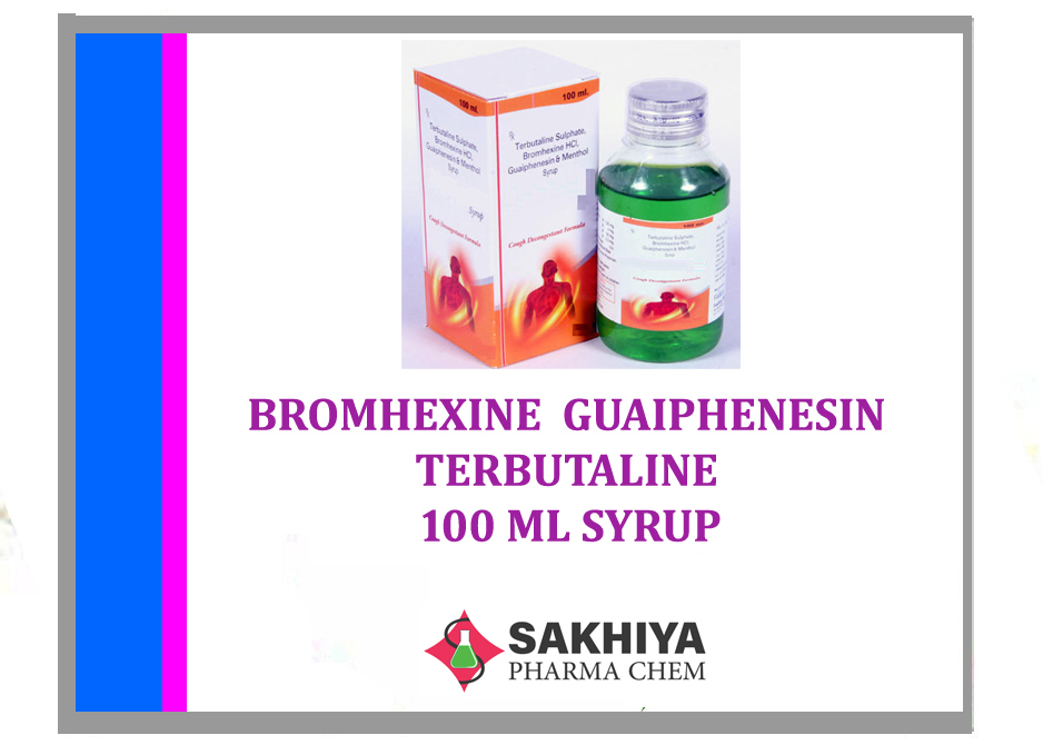 Bromhexine Guaifenesin Terbutaline Sulphate 100ml Syrup