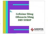 Cefixime 50mg + Ofloxacin 50mg Dry Syrup