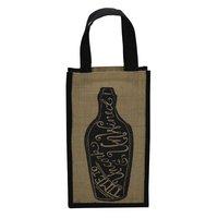 Jute Two Bottle Bag