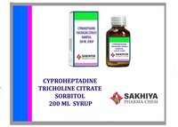 Cyproheptadine Tricholine Citrate Sorbitol 200ml Syrup