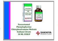 Paracetamol Phenylpherine Chlorpheniramine Meleate Sodium Citrate Syrup