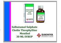 Salbutamol Sulphate Cholin Theophylline Menthol Syrup