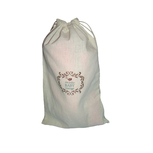 Natural Cotton Drawstring Pouch