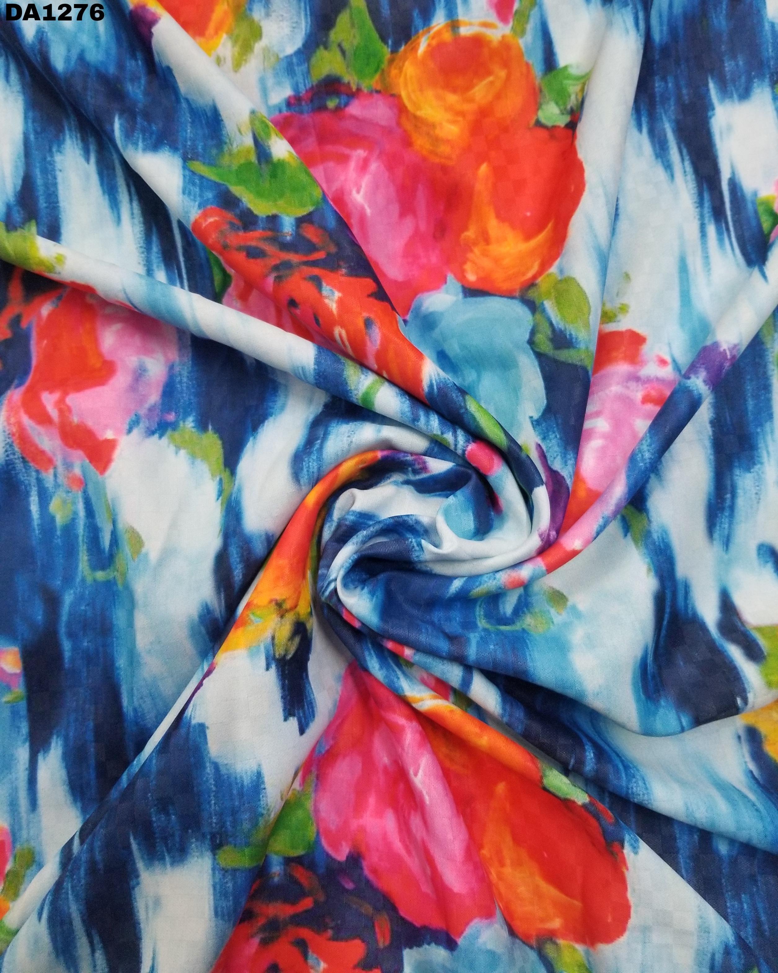 6MM Checks Silk Digital Print Fabric