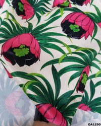 Velvet Sateen Silk Digital Print Fabric