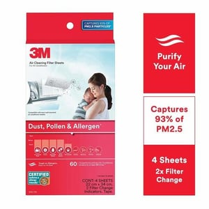 M Ac Filters For Converting Split Ac Into Air Purifier [dust, Pollen & Allergens, 4 Sheets, 2 Change IndicatorsM Ac Filters For Converting Split Ac Into Air Purifier [dust, Pollen & Allergens, 4 Sheets, 2 Change IndicatoaM Ac Filters For Convertingrs