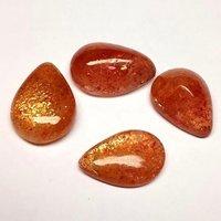 8x12mm Sunstone Pear Cabochon Loose Gemstones