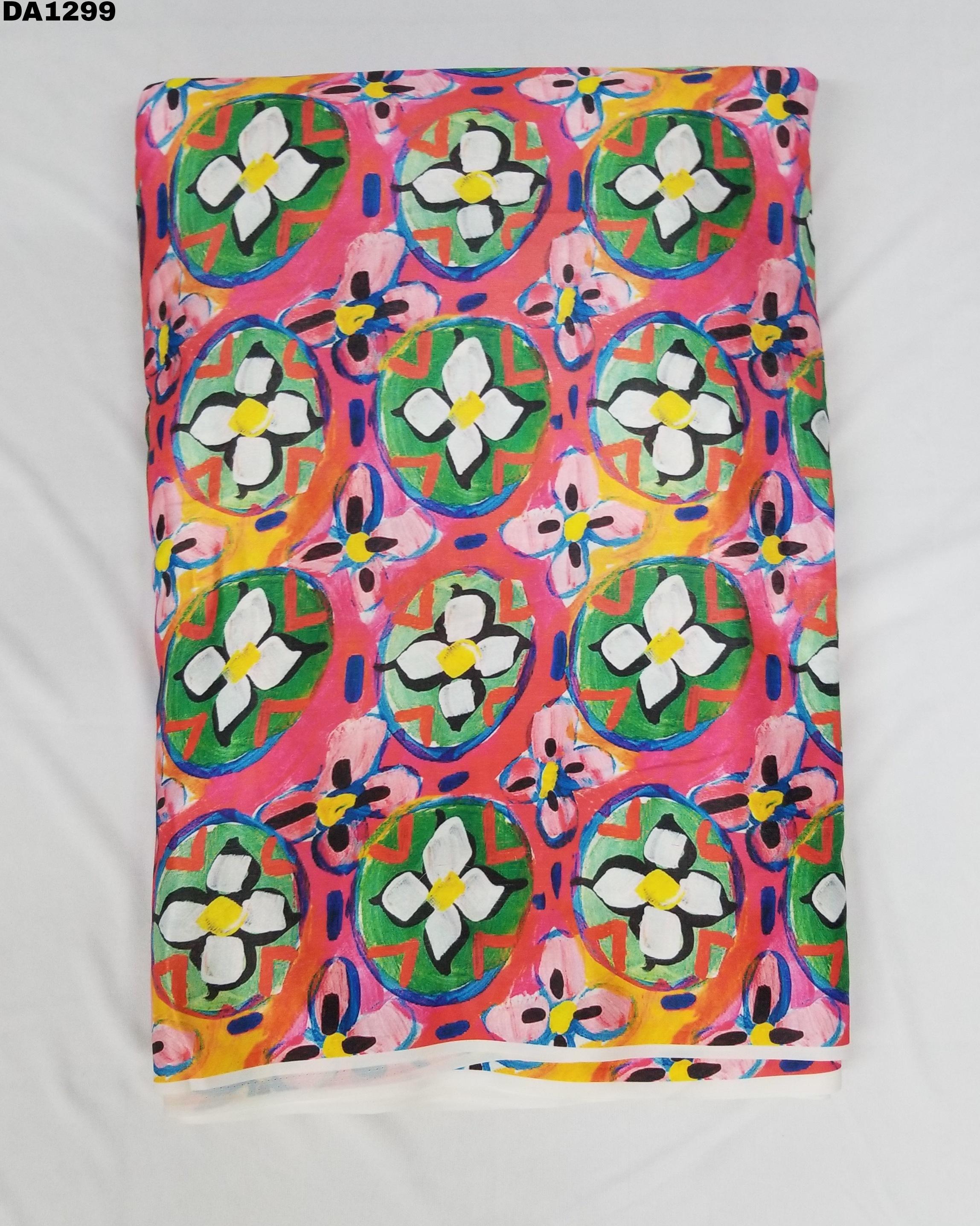 Semi Velvet Sateen Silk Digital Print Fabric