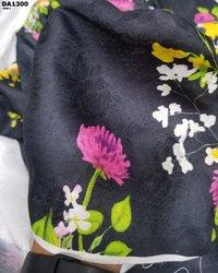 Flower Jacquard Digital Print Fabric