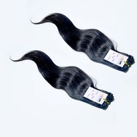Raw Unprocessed Cuticle Aligned Brazilian 100% Natural Straight Machine Weft Hair Extensions