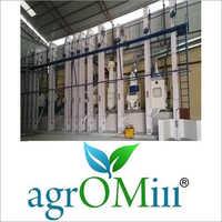 Concrete Platform Rice Mill Machine
