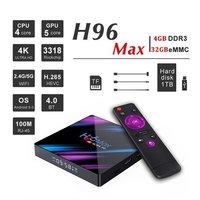 H96 Max 4gb+32gb Android 10 TV Box Lifetime Free TV + Online Movies Free