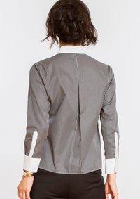 Non Iron Bracelet-Length Sleeve Untucked Shirt Stripe Black