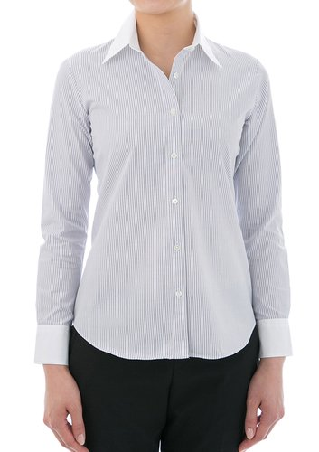 100% Cotton Wrinkle-Free White Collared Dress Shirt Collar Style: Classic