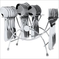 24 Pcs Forever Red Rose Cutlery Stand