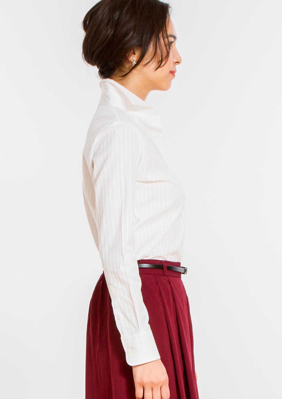 Premium Stretch Easy Care Cutaway Long Sleeve Shirt Stripe White