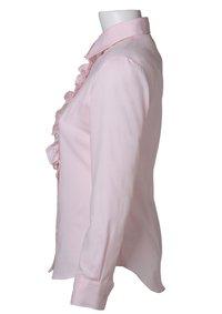 Easy Care Dobby Ruffle Long Sleeve Shirt Pink