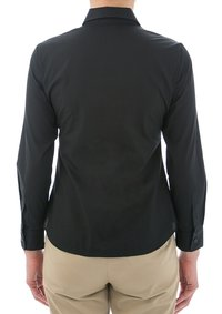 Easy Care Poplin Long Sleeve Shirt Black