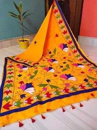 Applique work  Cotton silk