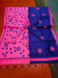 Applique Work  Cotton Silk