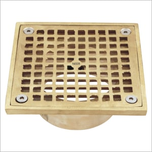 Square Nickel Bronze Floor Drain Strainers