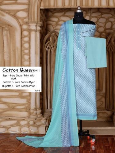 Cotton Queen-1301 Pure Cotton Print Dress Materials