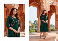 Ghoomer Cotton Slub Wonderful Midi Style Kurti Jacket Collection