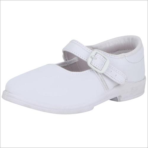 Girl White School Shoes