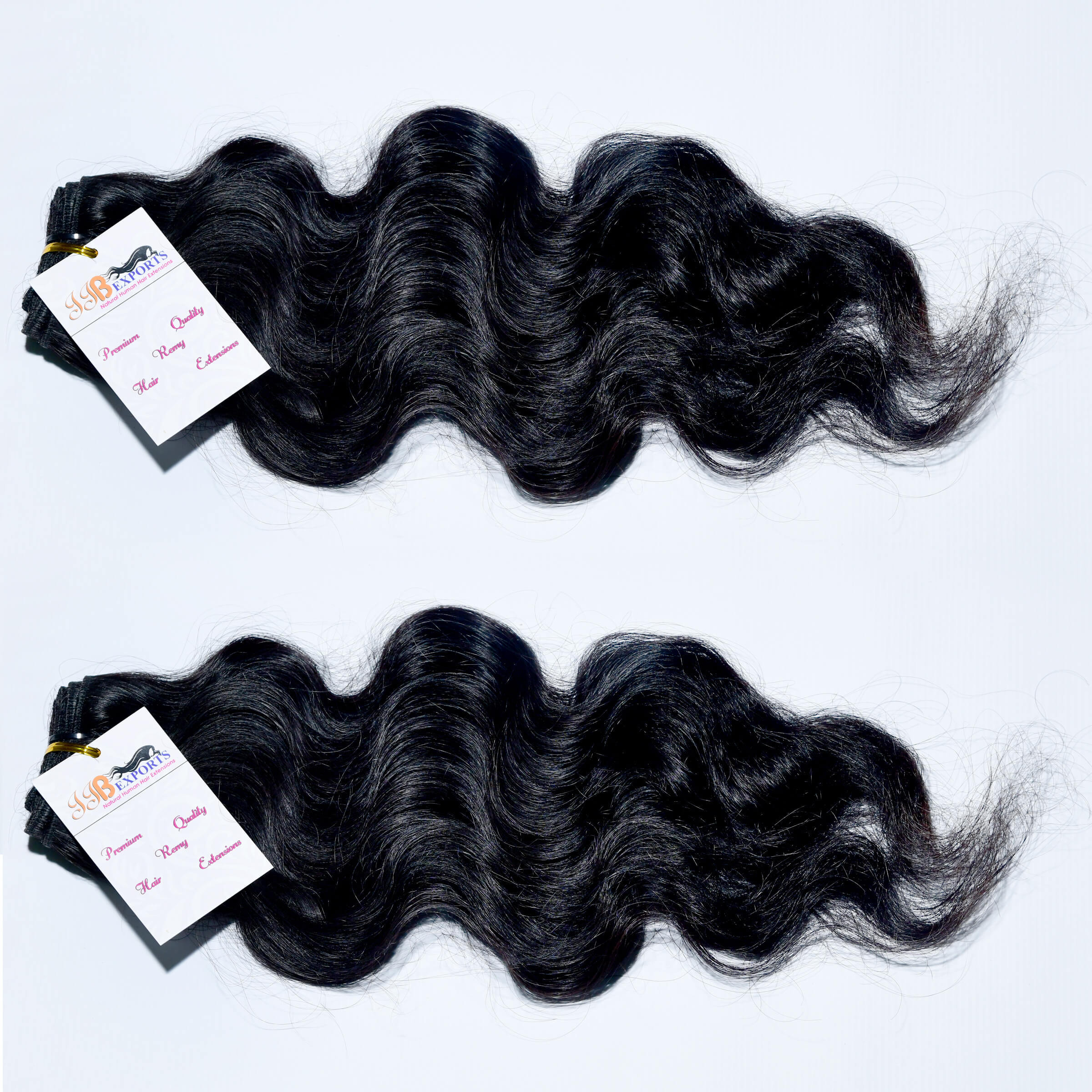 Indian Temple Human Hair Wavy Raw Indian Natural Remy Hair Machine Double Weft