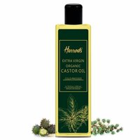 HARRODS Castor Oil 100% Pure and Natural Moisturizes and Protects Dry Skin For Hair Growth, Eyelashes, Joint and Muscle Pain 200ml