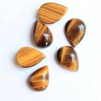 4x6mm Tiger Eye Pear Cabochon Loose Gemstones