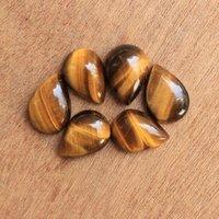 6x9mm Tiger Eye Pear Cabochon Loose Gemstones