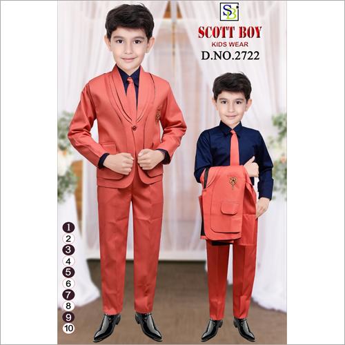 Boys 4 Piece Coat Suit