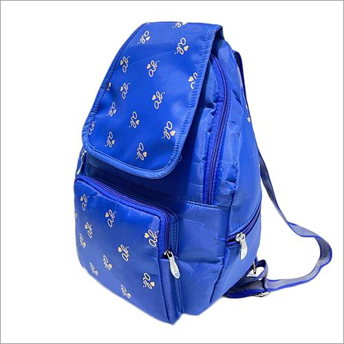 Blue Ladies Fancy Backpack Bag