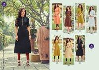 BENCHMARK Exclusive Designer Cotton Slub Kurtis