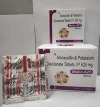 AMOXYCILLIN & POTASSIUM CLAVULANATE TABLETS 625MG