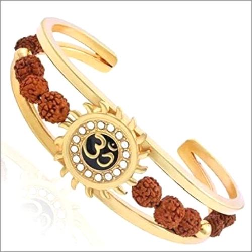 Brass Non-Precious Leather Kada Bracelet