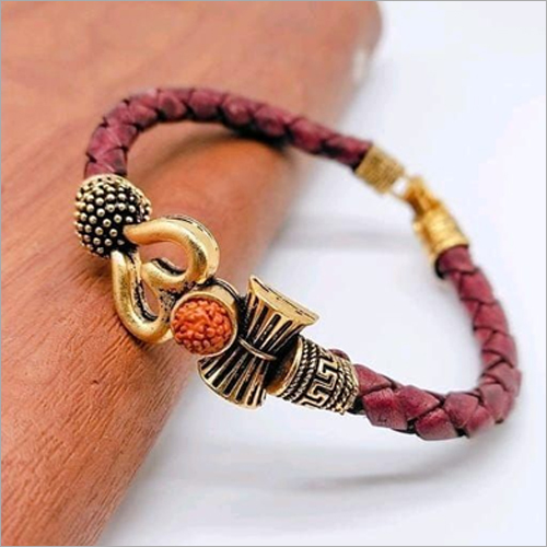Om kada Gold Red Bracelet
