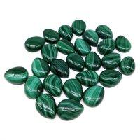 4x6mm Malachite Pear Cabochon Loose Gemstones