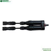 Waterproof New Energy Cable Fuse Connector For Solar Mounting 1500vdc
