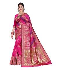 Floral Designer Banarasi Jaquard Saree