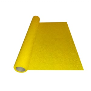 Yellow Rose Print Embossed Non Woven Sheet