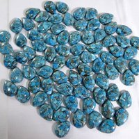 4x6mm Blue Copper Turquoise Pear Cabochon Loose Gemstones