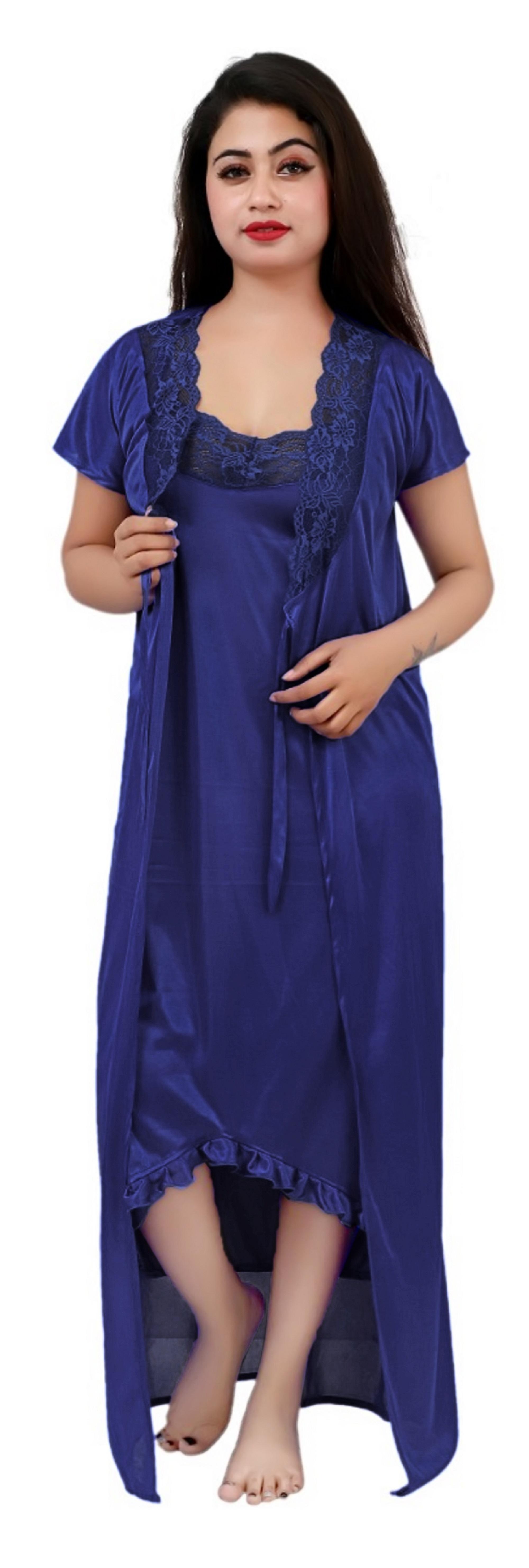 Ladies 4 Piece Fancy Night Dress 4 Piece Set