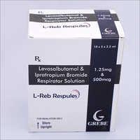 Levosalbautamol Ipratropium Bromide Respirator Solution