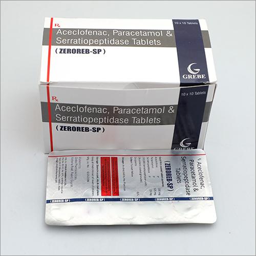 Aceclofenac, Paracetamol Serratiopeptidase Tablets
