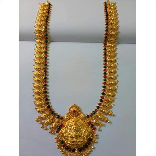 Mango Haram With Laxmi Locket Necklace