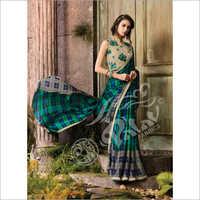 Silk Pattern Print Work Saree